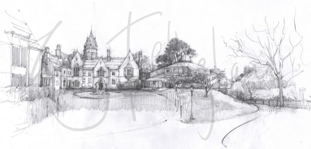 No 9. Brambletye pencil sketch