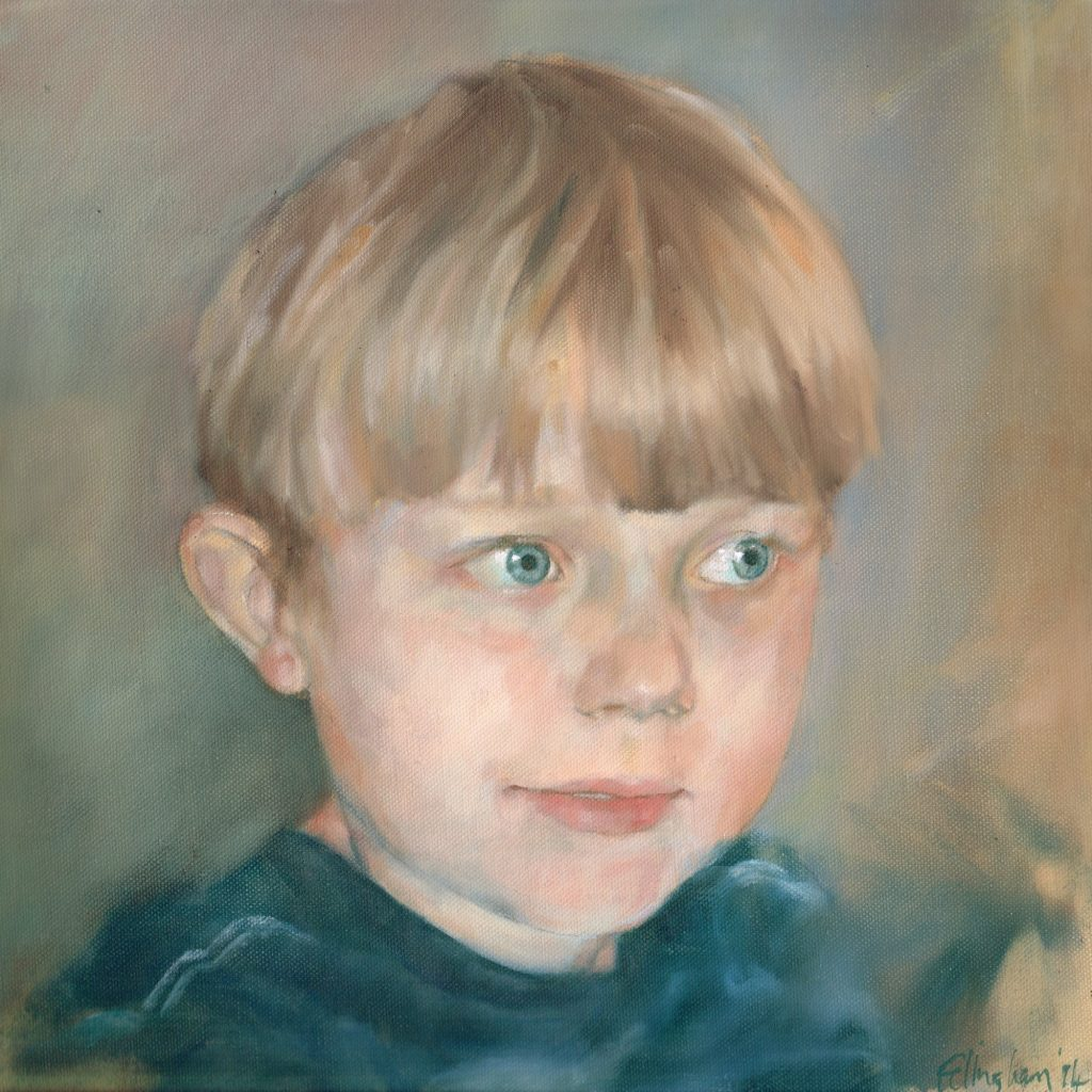 Archie: child oil portrait