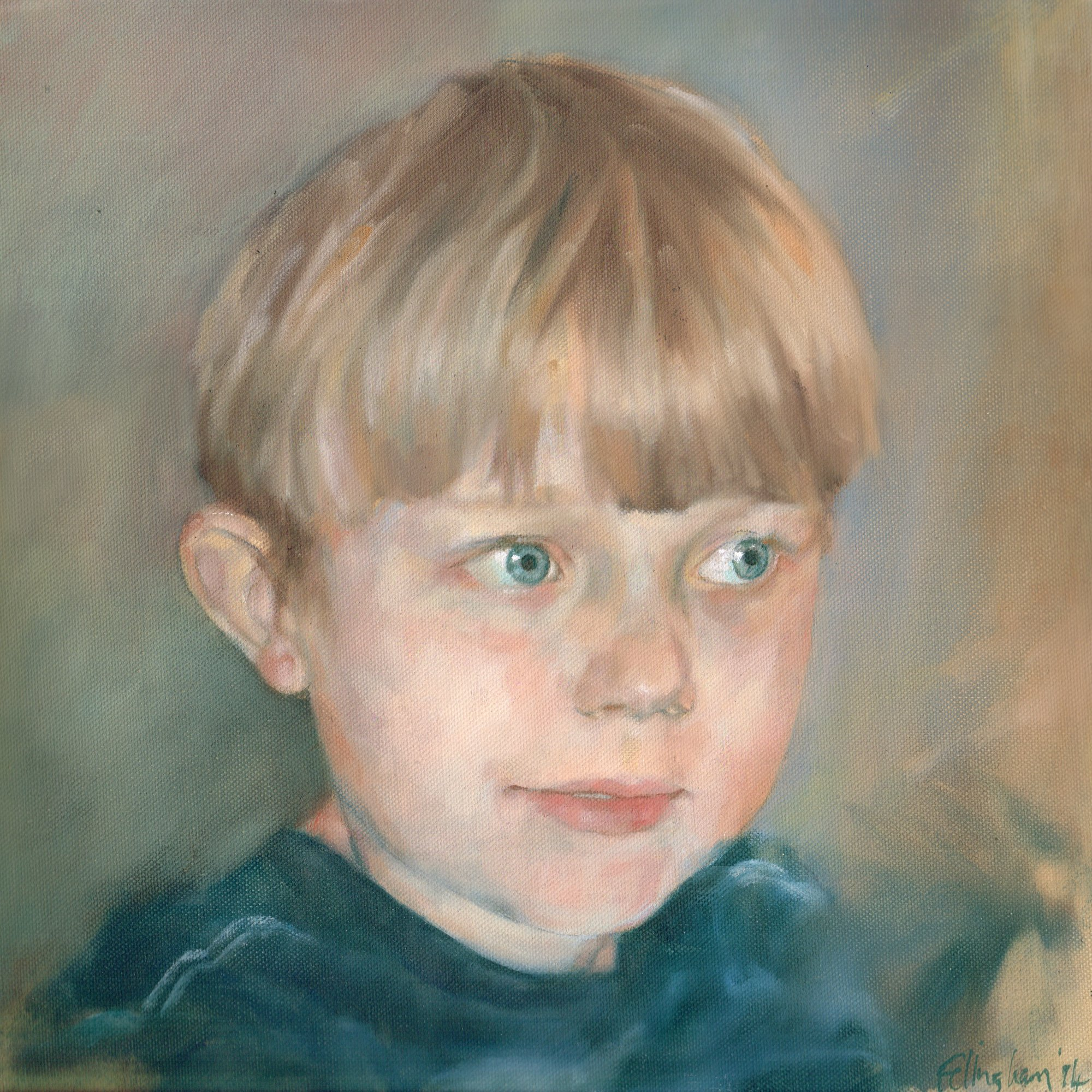 child oil portrait