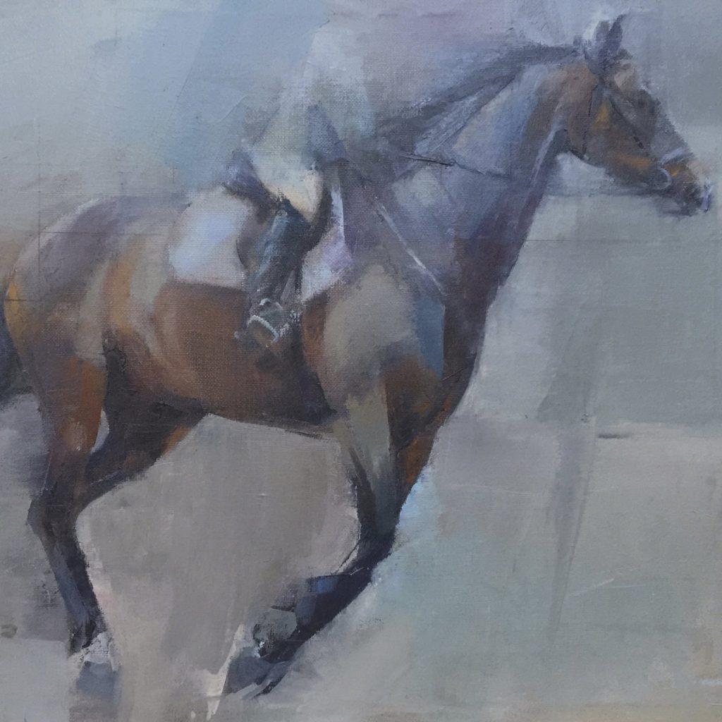 Running Horse: equine art commission