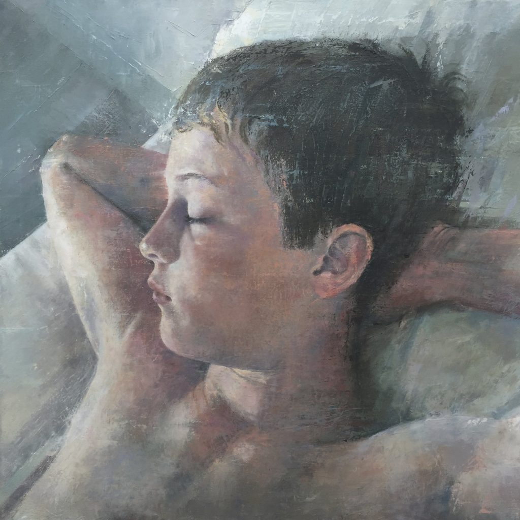 Portrait Sleeping: royal society of oil painters annual show exhibit