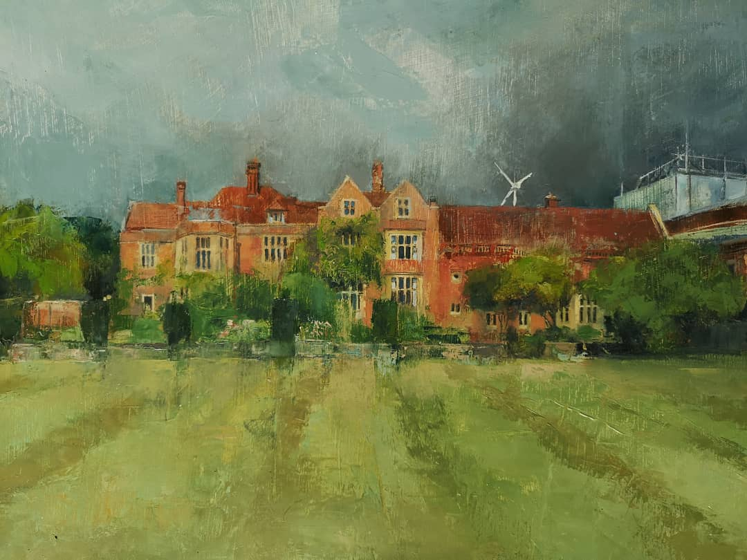 Glyndebourne opera house portrait oil painting