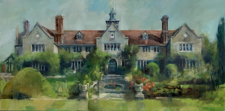 House Portrait Commission Oil Painting on Board Sussex landscape artist