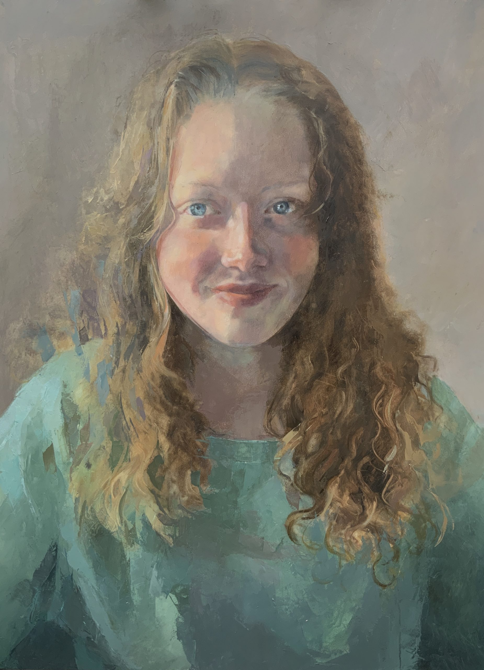 Oil portrait painting commission