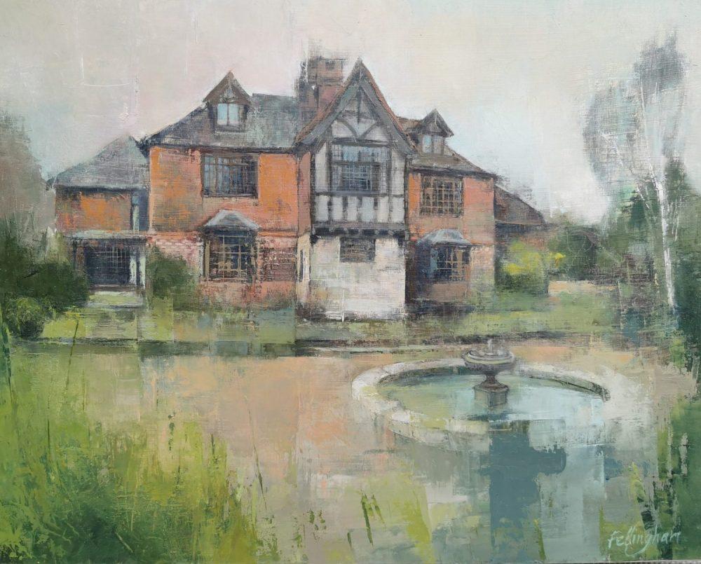 House portrait Sussex landscape artist