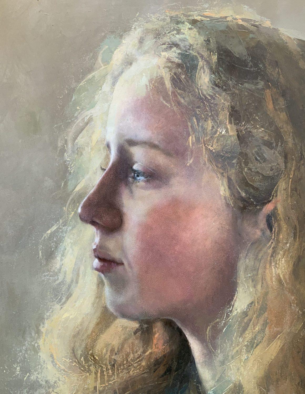 Portrait commission of a girl portrait painting Sussex portrait artist