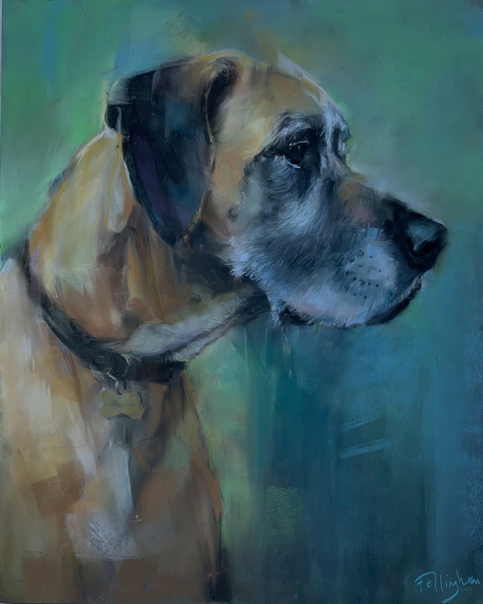 dog pet portrait suusex portrait artist
