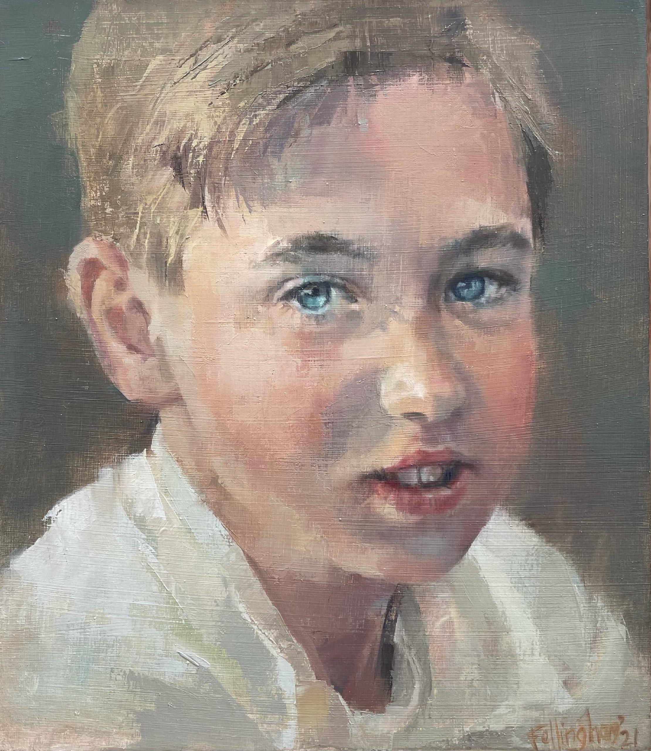 Portrait painting of a boy-OD